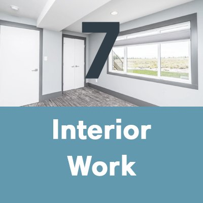 A house builder will complete interior work